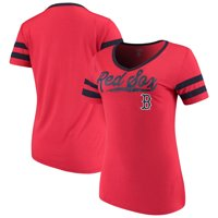 Product Image Women s New Era Red Boston Red Sox Jersey V-Neck T-Shirt 7ad836a3f