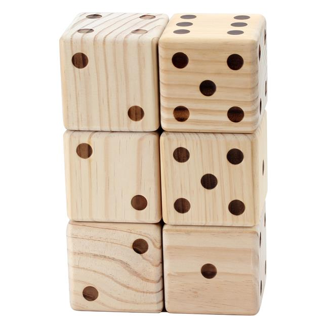 Omni Wooden Toys 966053 Yard Dice - 6 Piece