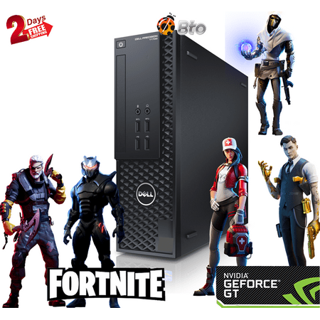 Gaming Computer Dell T1700 SFF Desktop PC Core i7-4th, 8GB Ram, 240GB SSD, 2TB HDD, Nvidia GT 1030, Keyboard & Mouse, WiFi, Win10 Home (Renewed)
