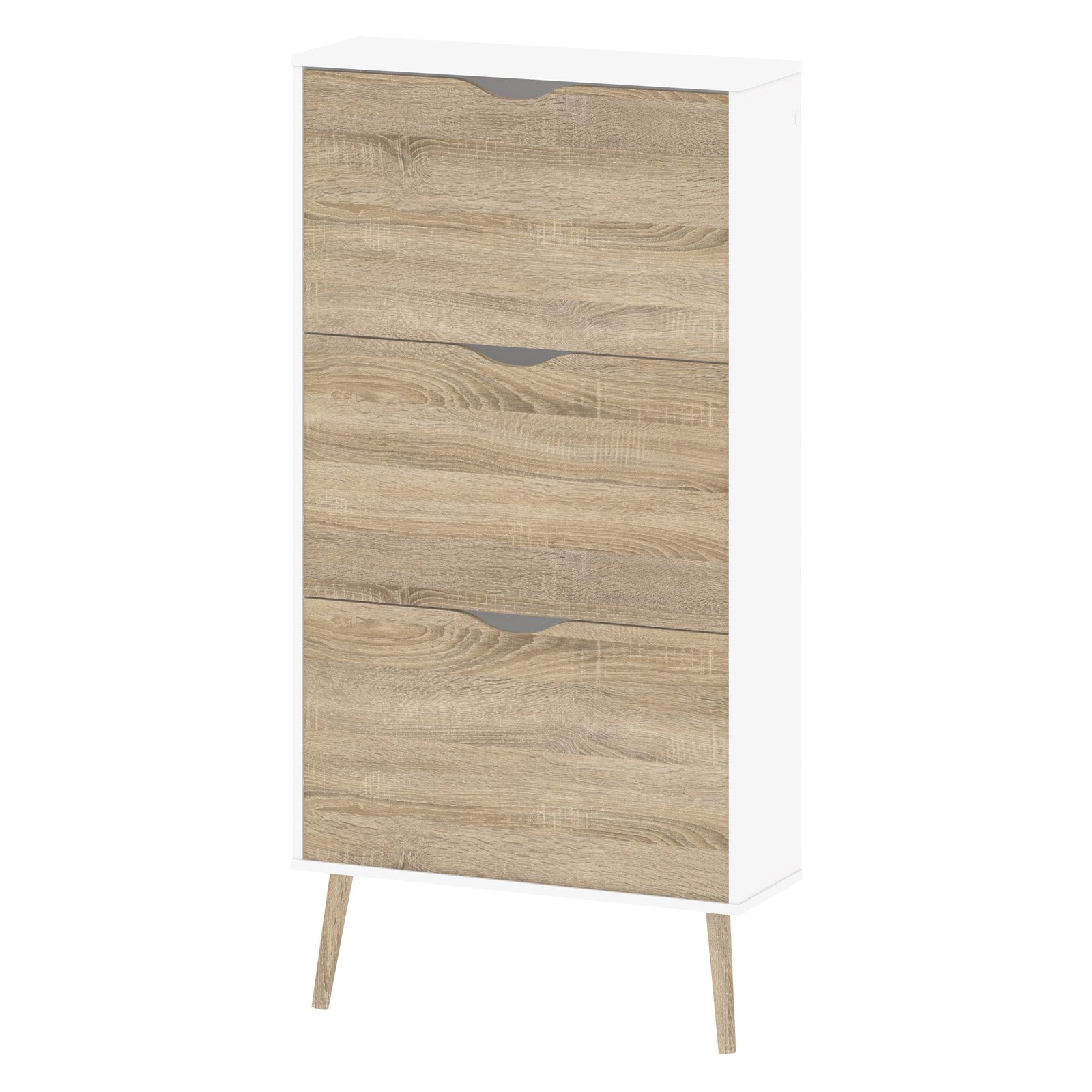 Delicieux Product Image TVILUM Diana 3 Drawer Shoe Cabinet, White/Oak Structure  Converted To Inflex Kit