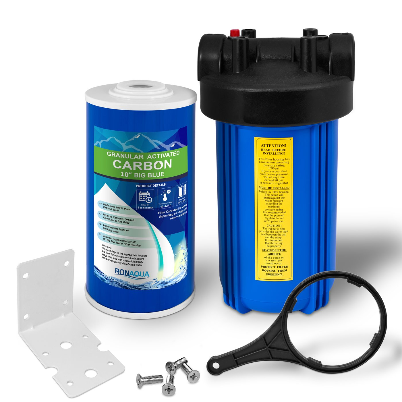 "10"" Big Blue Whole House Water Filter with GAC Water Filter"