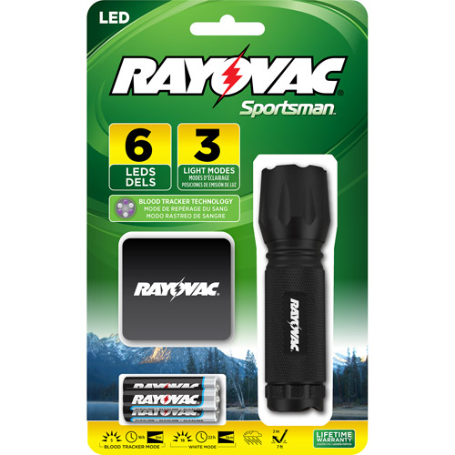 Rayovac Sportsman LED Blood Tracker Flashlight