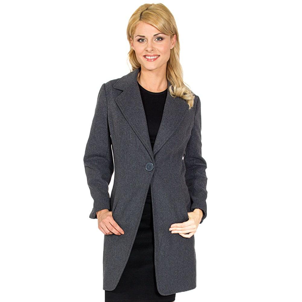 Alpine Swiss Stella Women's Wool Single Button Overcoat 7...
