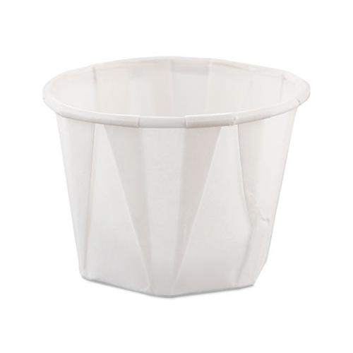 Solo 100 Pleated 1 Ounce Paper Portion Cup SCC100