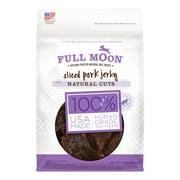 Full Moon All Natural Human Grade Dog Treats, Natural Cut Jerky, Sliced Pork (Various Sizes)