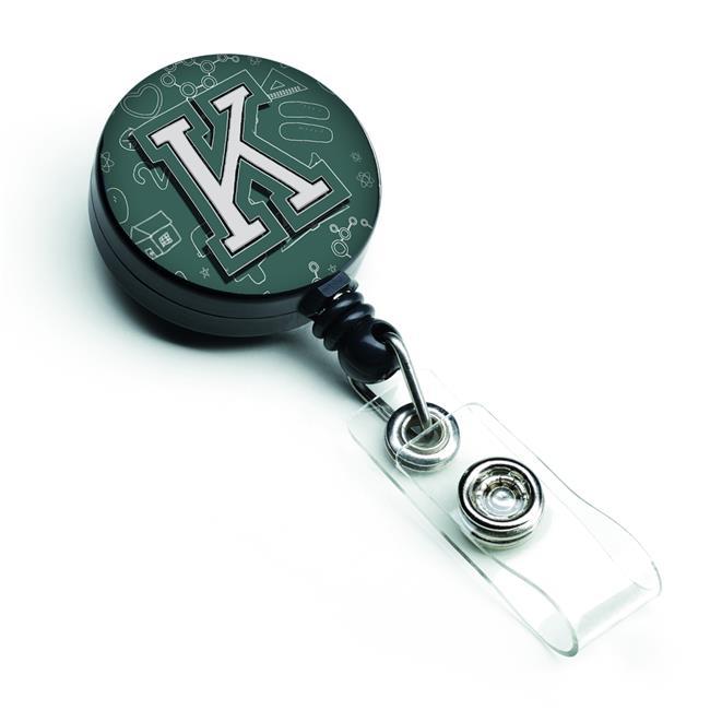 Carolines Treasures CJ2010-KBR Letter K Back to School Initial Retractable Badge Reel - image 1 de 1