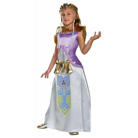 The Legend of Zelda Deluxe Child Halloween Costume, One Szie, S (4-6)](Link Halloween Costume Zelda)