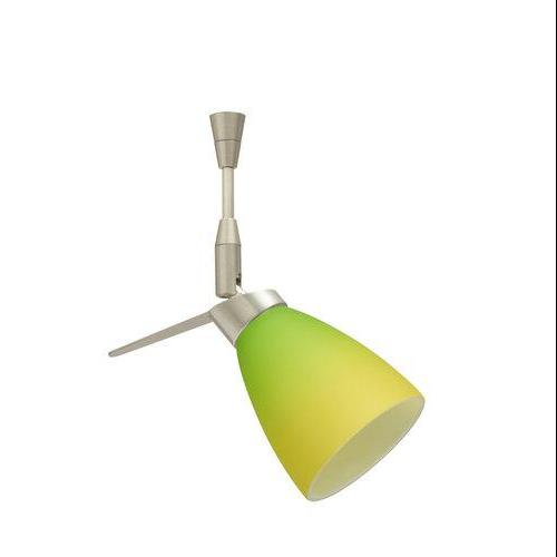 Besa Lighting SP-5044GY-SN Single Light Halogen Spot Light with Satin Nickel Metal Finish from the Andi Col, Bicolor Green/Yellow