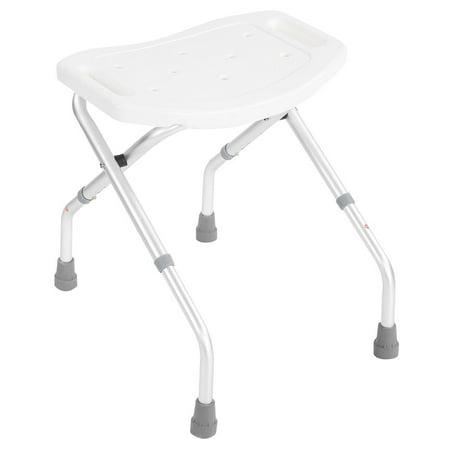 Folding Shower Chair (HERCHR Folding Bath Shower Seat Bathroom Chair Disability Aid Stool Suction Style Feet Stable Framewor, Folding Shower Stool, Folding Shower Chair)