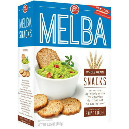 Old London Melba Snacks Whole Grain 5.25 Oz (Pack of 12) - Old London Whole Grain