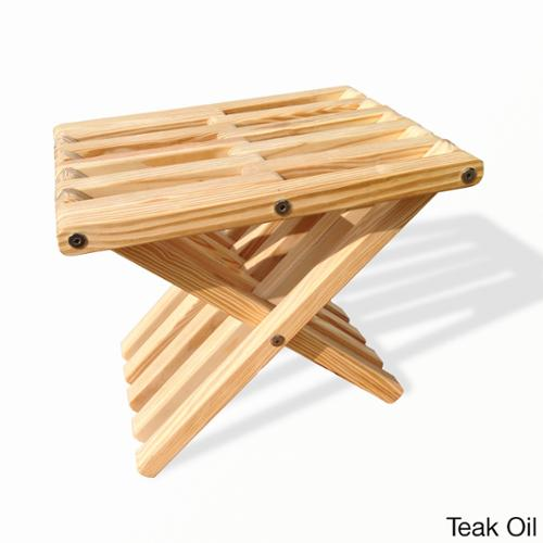 Eco Friendly Garden Stool X30 Made in USA Stool X30, Teak Oil