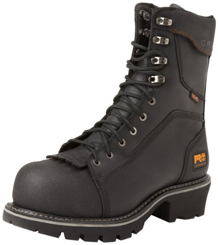 Timberland PRO Men's Rip Saw Comp Toe Logger Work Boot,Black,12 W US by Timberland PRO