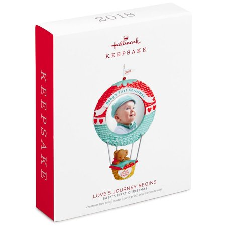 Hallmark Keepsake 2018 Baby's First Christmas Love's Journey Begins Photo Ornament (Hallmark Ornament First Christmas)