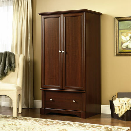 Sauder Palladia Armoire, Multiple Finishes 2 Drawer Maple Armoire