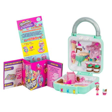 Shopkins Lil' Secrets Secret Lock Playset, Cute Scoops Ice Cream Shop