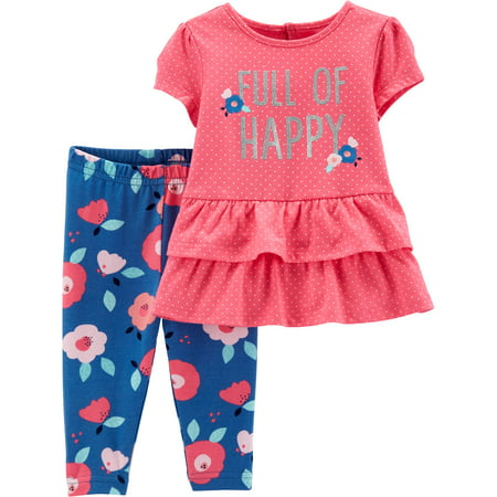 Top and Pants Outfit, 2 Piece Set (Baby Girls) - 50s Girl Outfit