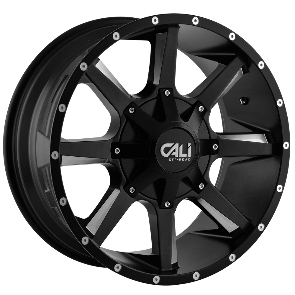 "20 Inch Cali Offroad 9100 Busted 20x9 8x6.5""/8x170 18 Black/Milled Wheel Rim"