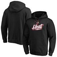 Men's Fanatics Branded Black Miami Heat Super Sweep Pullover Hoodie