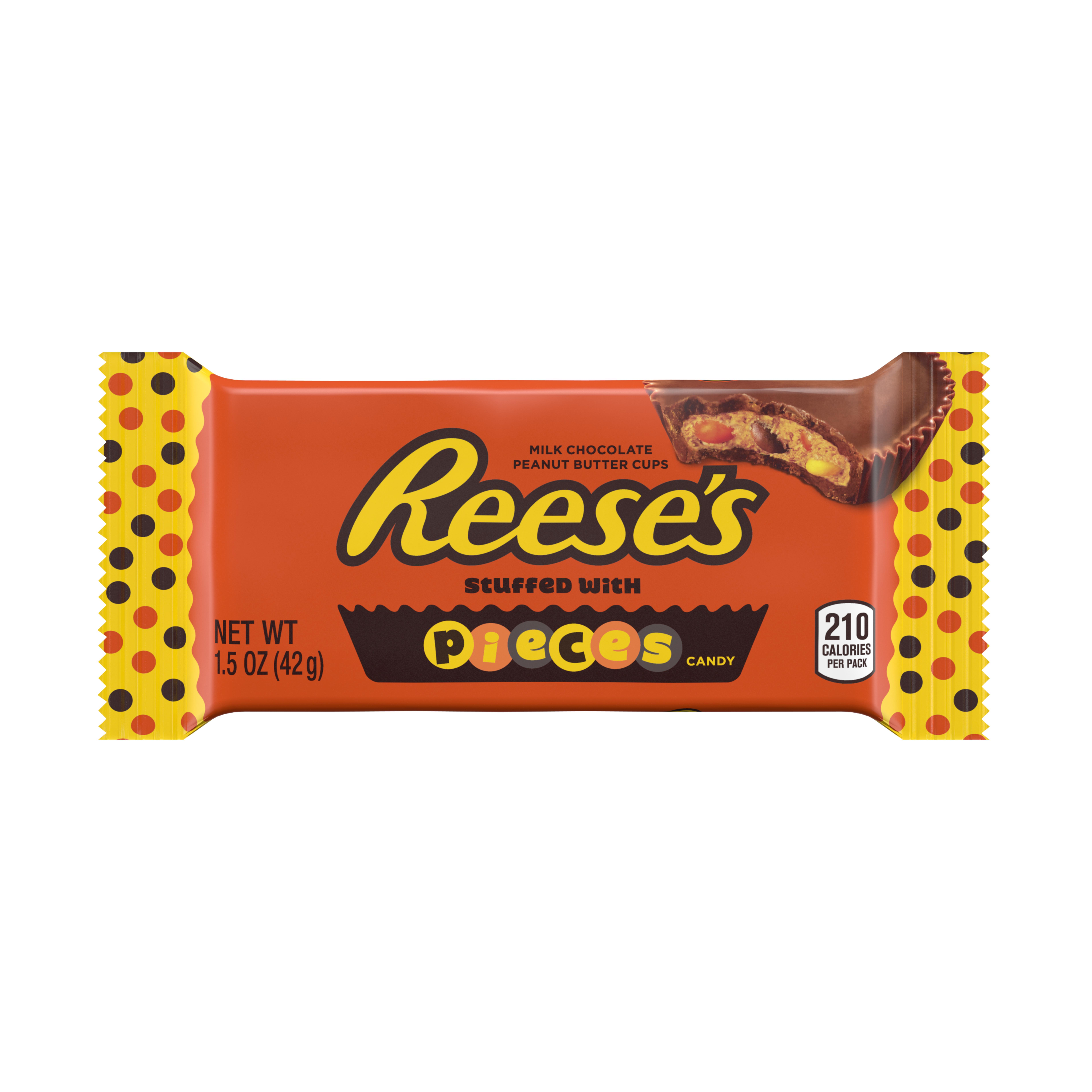 Reese's, Peanut Butter Cups with Pieces Milk Chocolate Candy, 1.5 Oz