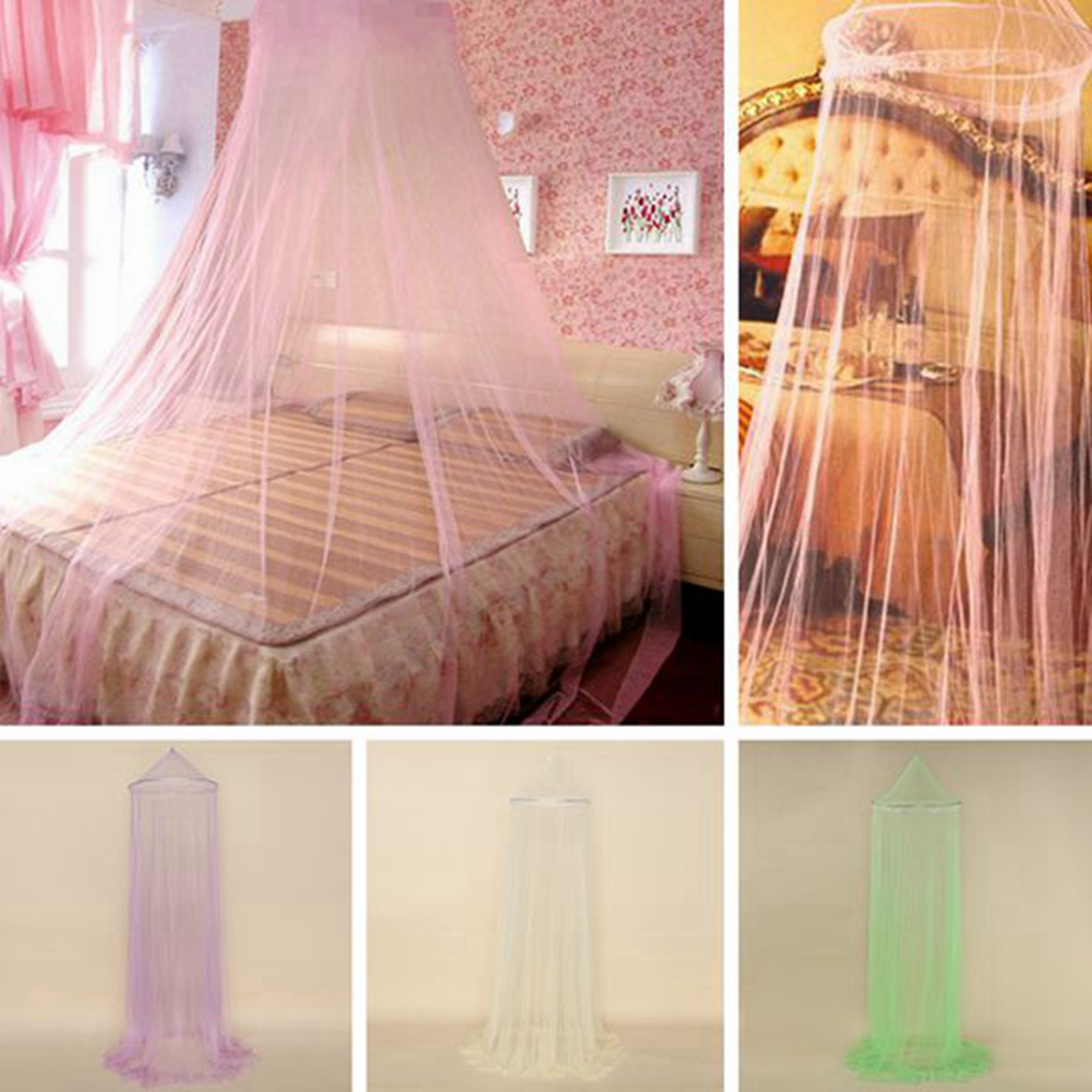 Dome Lace Mosquito Net Fly Indoor Insect Protection Bed Canopy Mesh Curtain New