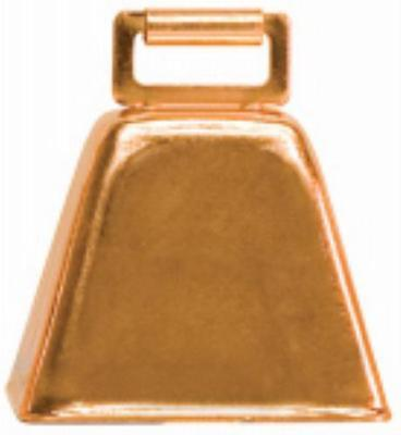 """2-1 2""""H x 2-1 4""""W x 1-3 4""""D Copper Plated Over Steel Cow Bell Ideal Fo 4PK by"""