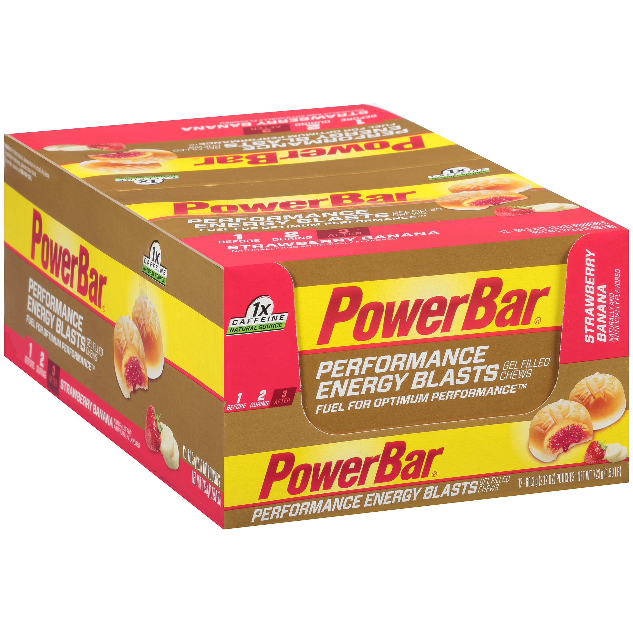 PowerBar® Strawberry Banana Performance Energy Blasts Gel Filled Chews 12- 2.12 oz. Pouches