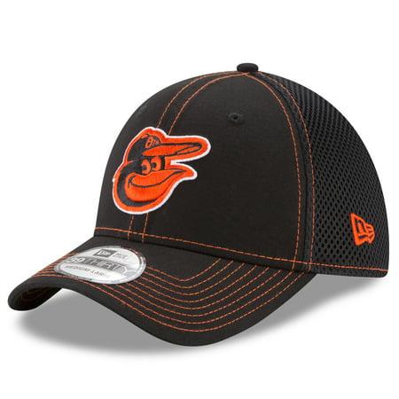 New Era Stock - Baltimore Orioles New Era Shock Stitch Neo 39THIRTY Flex Hat - Black