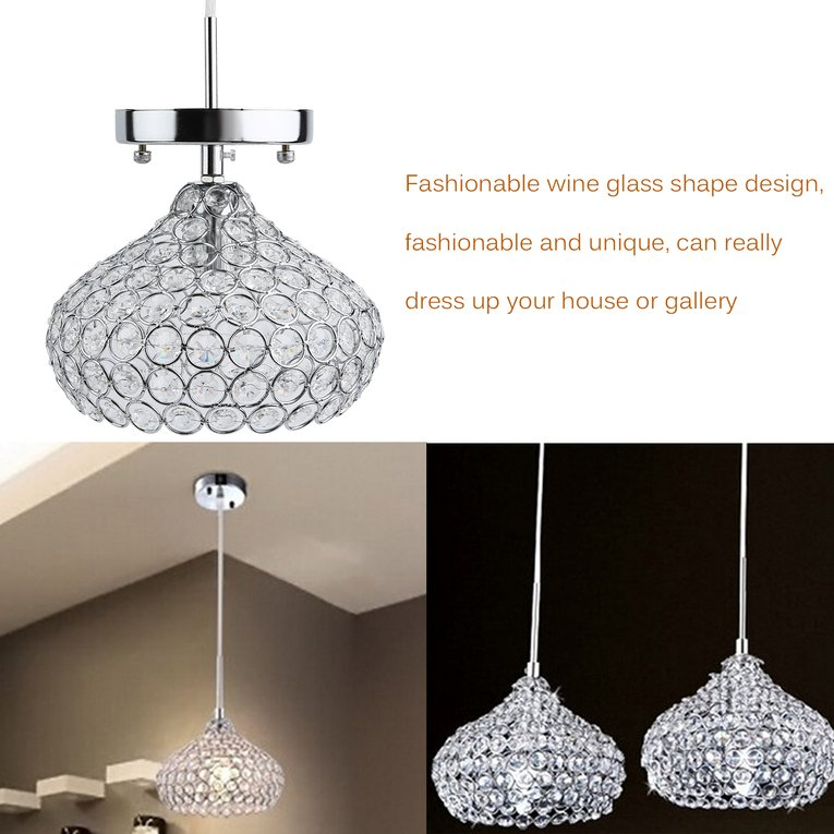 Wine Glass Shape Chandelier For Living Room Crystal Ceiling Light Pendant Lamp