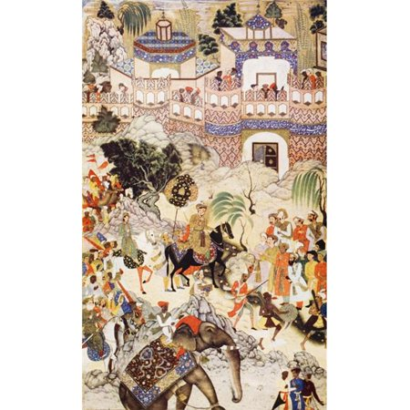 Posterazzi DPI1857225LARGE Akbar Khans Entry Into Surat 1572 by Farrukh Beg From The Book The Outline Poster Print, Large - 22 x 38 - image 1 of 1