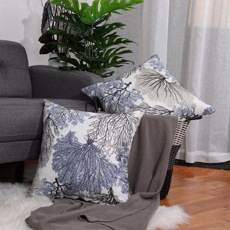 2pcs Stylish Simplicity Polyester Cushion Cover Sofa Throw Pillow Case Home,L for Sofa Couch Chair Car Seat ()