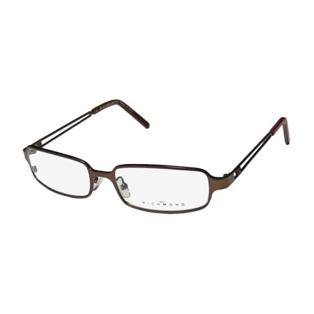 New John Richmond 04402 Mens/Womens Designer Full-Rim Brown Elegant Hip Made In Italy Frame Demo Lenses 54-17-135 Eyeglasses/Spectacles (John Richmond Online-shop)