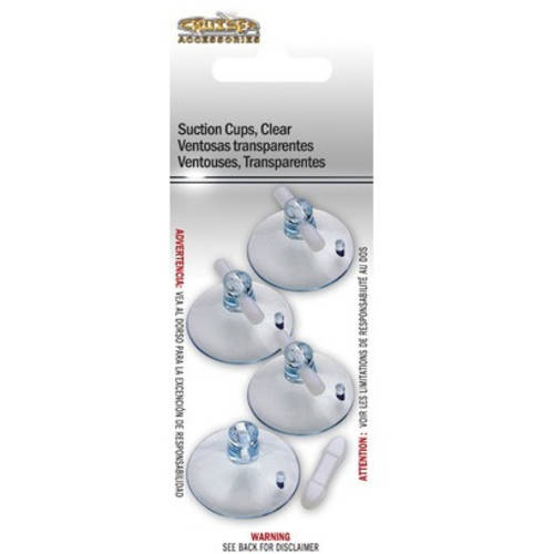 cruiser accessories suction cups clear 4pk