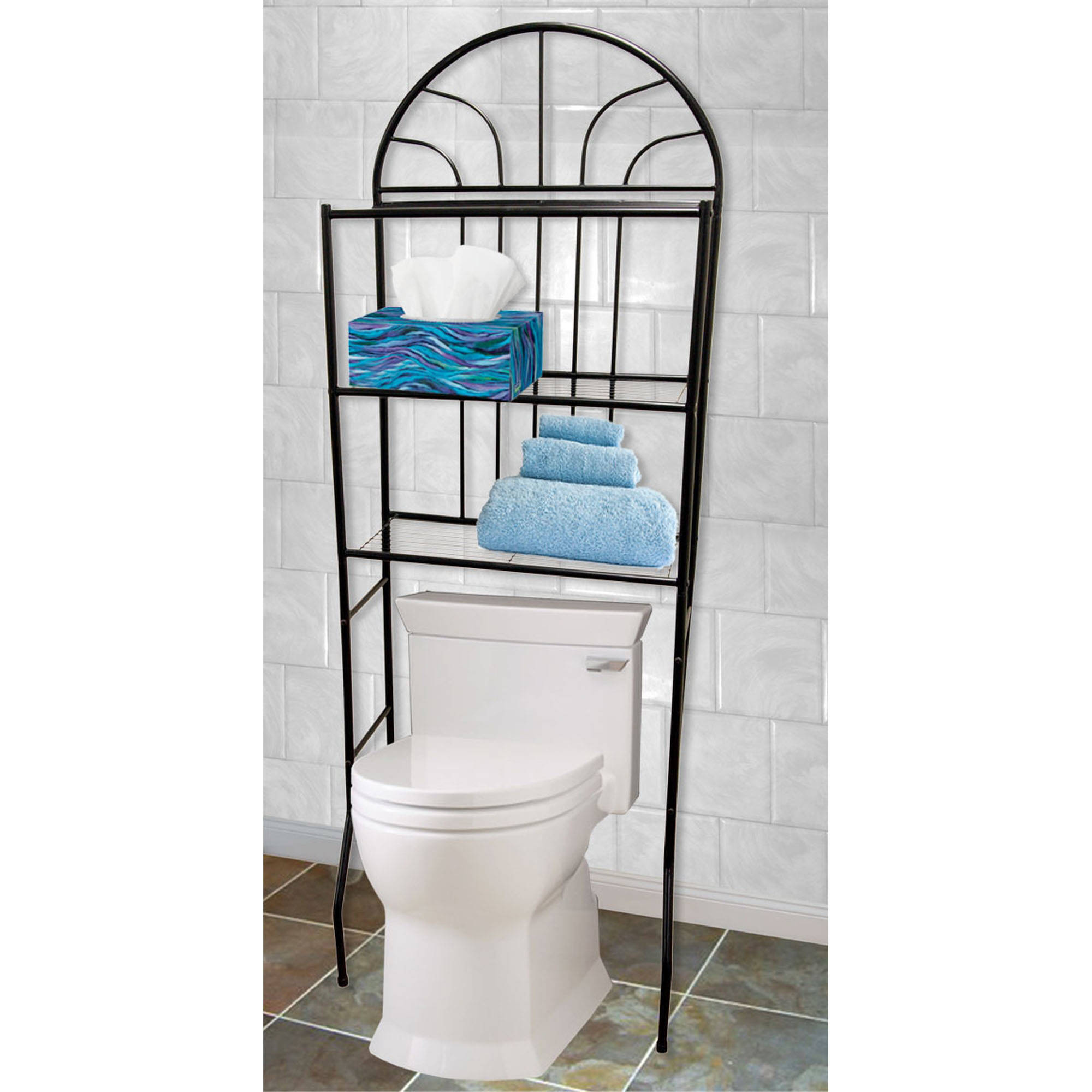 Bathroom Space Saver home basics 3-shelf bathroom space saver - walmart