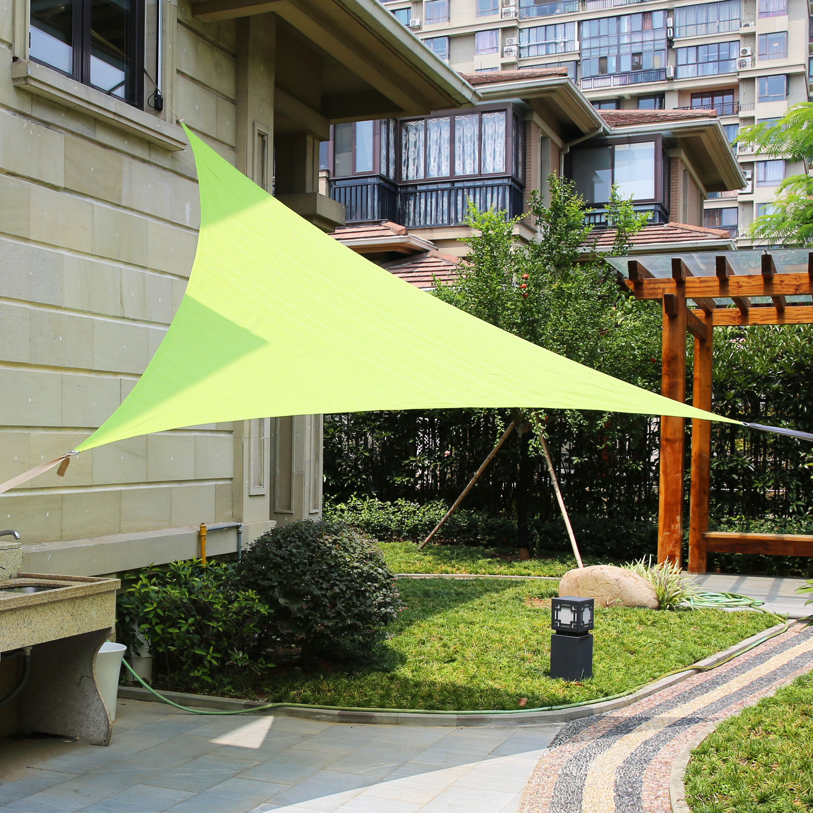 LyShade 12u0027 x 12u0027 x 12u0027 Triangle Sun Shade Sail Canopy - UV Block for Patio and Outdoor - Walmart.com & LyShade 12u0027 x 12u0027 x 12u0027 Triangle Sun Shade Sail Canopy - UV Block ...