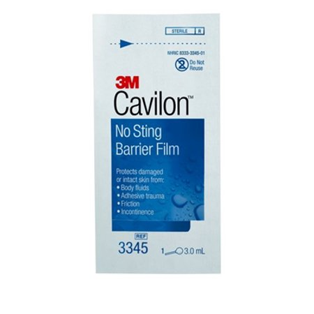 No Sting Protective Barrier (Cavilon No Sting Barrier Film, 3.0 ml. Wand, Alcohol Free, 3M 3345 - Box of)