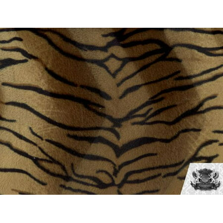 Velboa Faux Fake Fur Brown Tiger Fabric - Daniel Tiger Fabric