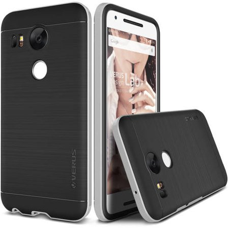 quite nice ed6c1 b2e78 Nexus 5X Case Soft Cover Case by VRS Design High Pro Shield Series, Satin  Silver
