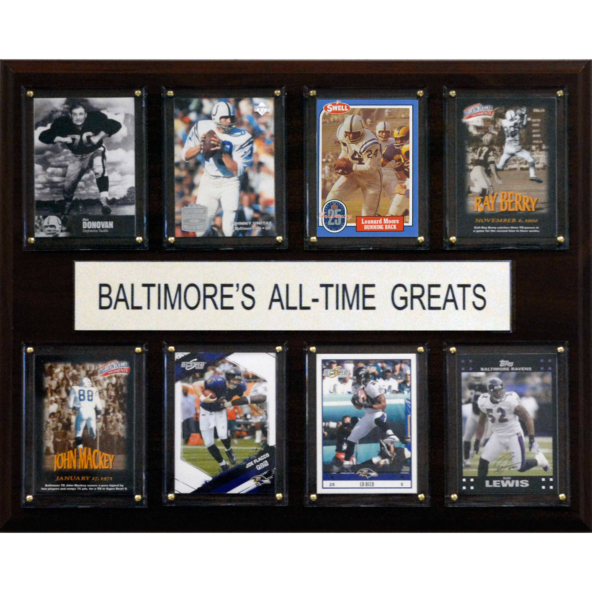 C&I Collectables NFL 12x15 Baltimore Ravens All-Time Greats Plaque