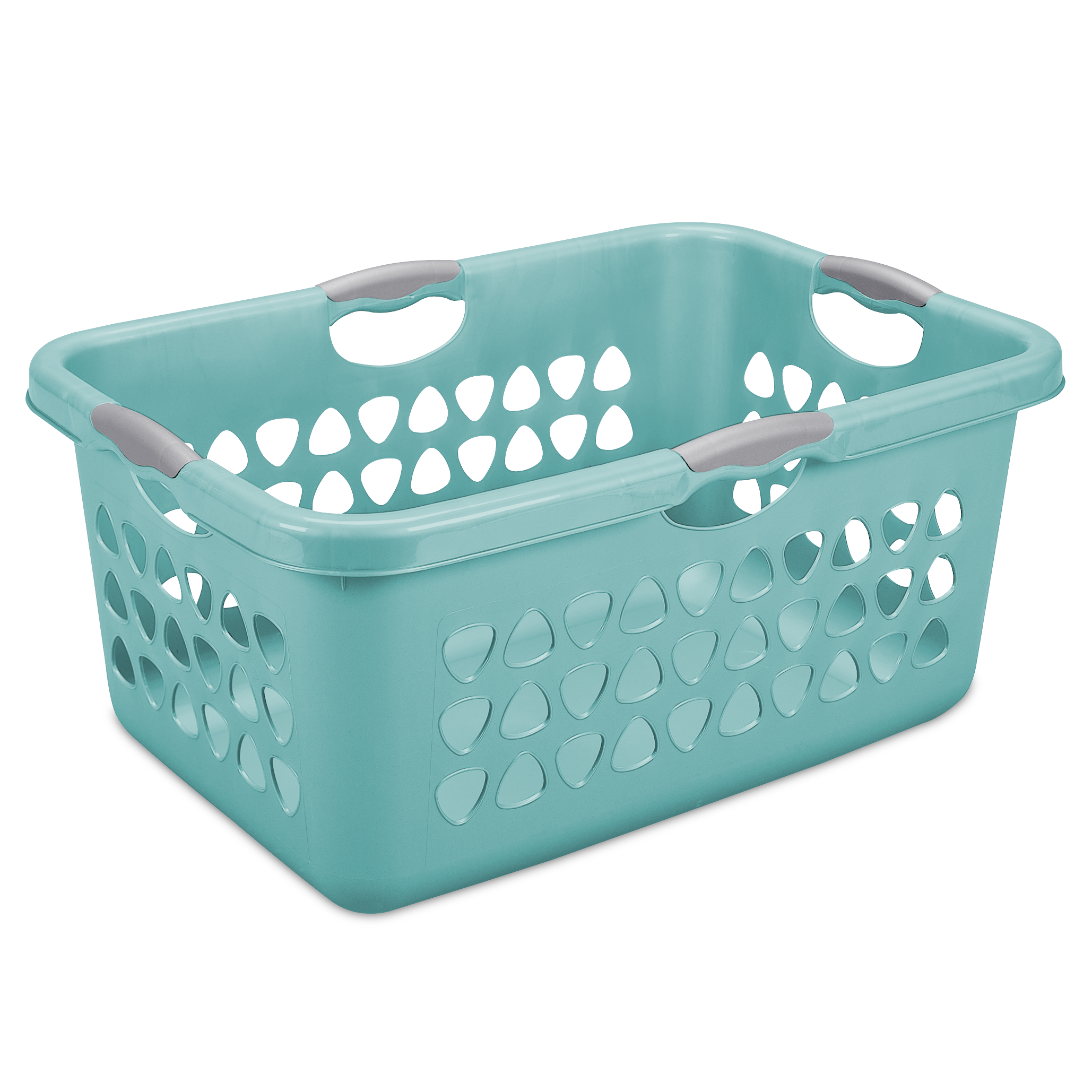 Sterilite Bushel Ultra Laundry Basket, Teal Splash (Available in Set of 6 or Single Unit)
