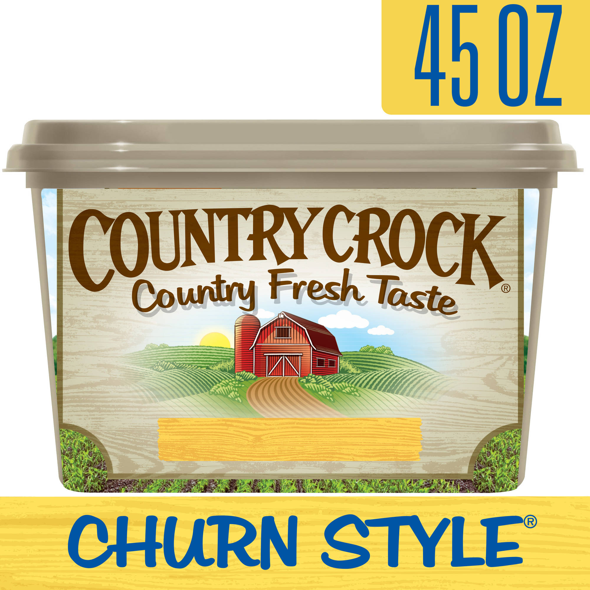 Country Crock Churn Style Vegetable Oil Spread Tub, 45 oz