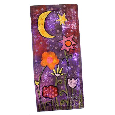 Peri Woltjer LIT STARRY NIGHT DOOR HANGER Metal Indoor Use Moon Star 2020150856 (Peri Woltjer Halloween)