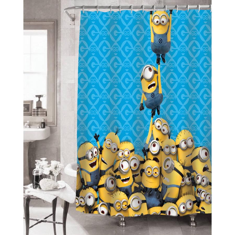 universal's minions fabric shower curtain - walmart