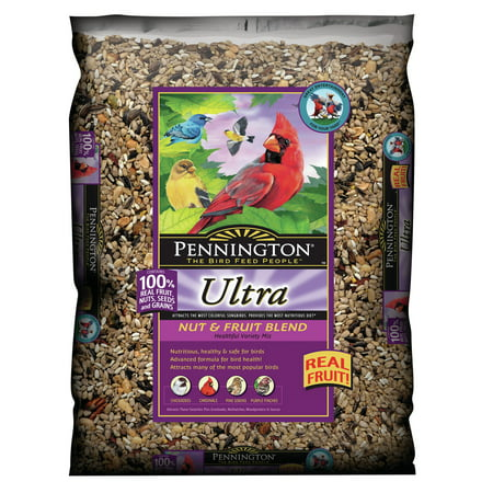 All Finches - Pennington Ultra Fruit & Nut Blend Wild Bird Seed and Feed, 14 lbs