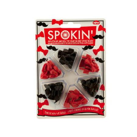 Mustache & Bow Tie Bike Spoke Beads