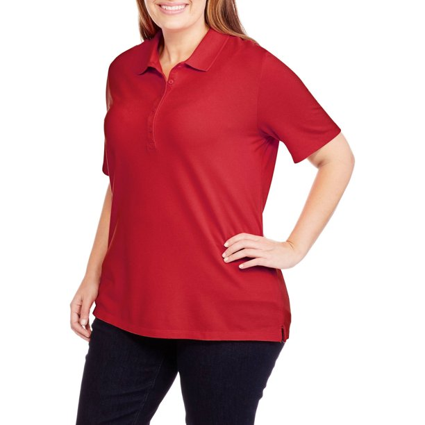 Women's Plus Short Sleeve Polo