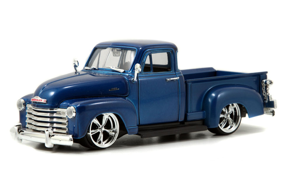 1953 Chevy Pickup Truck, Blue Jada Toys Bigtime Kustoms 50117 1 24 scale Diecast Model Toy... by Jada