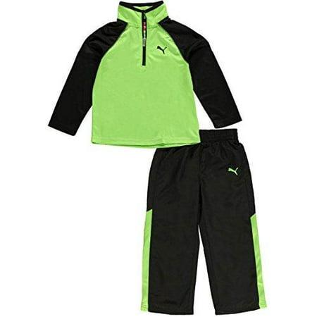 Puma Toddler Boy's Speeding Glow  2-Piece Performance Outfit Set - Jasmine Green - Jasmine Outfits