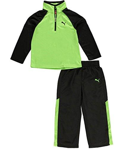 Puma Toddler Boy's Speeding Glow  2-Piece Performance Outfit Set - Jasmine Green