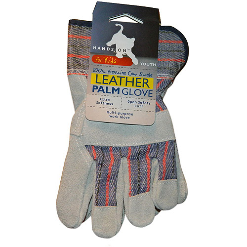 Hands On Kids Premium Suede Leather Palm Work Glove.