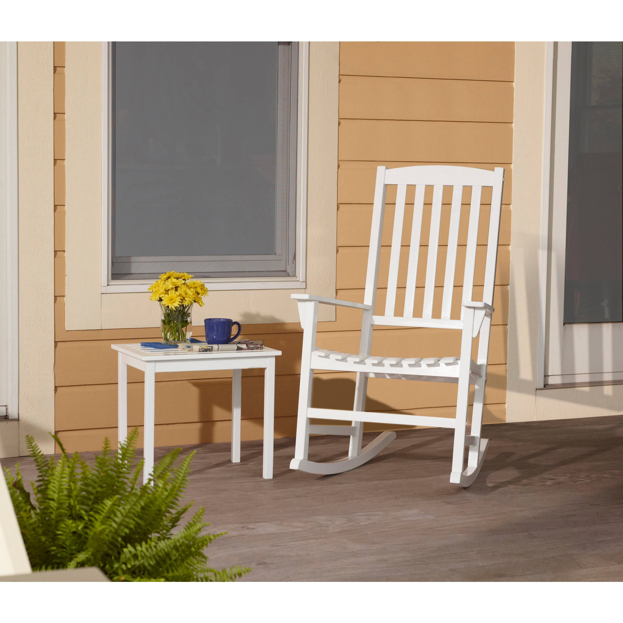 mainstays outdoor rocking chair white walmart com